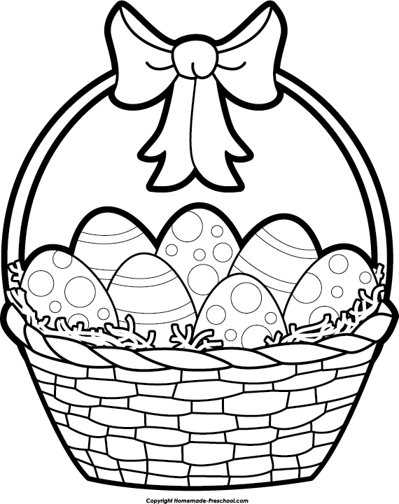 Easter egg hunt black and white clipart image free Easter Basket Clipart Black and White | Happy Easter | Pinterest ... image free