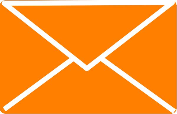 Clipart for envelopes jpg library Orange Envelope 2 Clip Art at Clker.com - vector clip art online ... jpg library