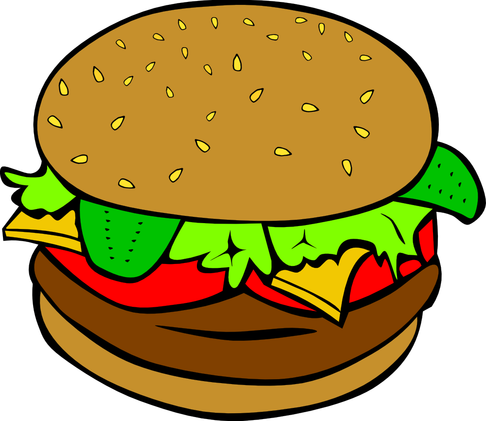 Clipart for food png library download OnlineLabels Clip Art - Fast Food, Lunch-Dinner, Hamburger png library download