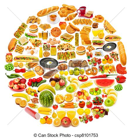 Clipart for food items clipart freeuse download Lots Of Food Clipart - Clipart Kid clipart freeuse download