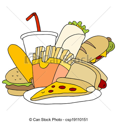 Clipart for food items jpg Clipart Vector of Fast Food Item Set - An image of fast food items ... jpg