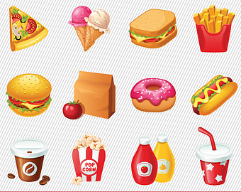 Clipart for food items vector freeuse Free clipart of food items - ClipartFest vector freeuse
