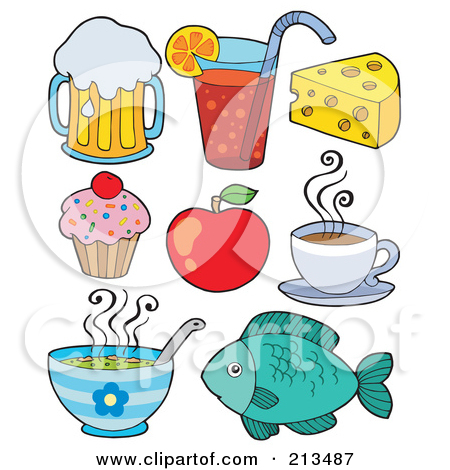 Clipart for food items png library download Free clipart of food items - ClipartFest png library download