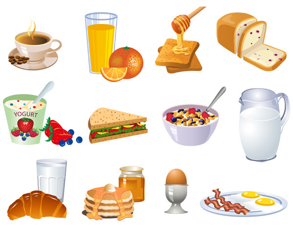 Clipart for food items clip royalty free stock Breakfast Food Clip Art & Breakfast Food Clip Art Clip Art Images ... clip royalty free stock