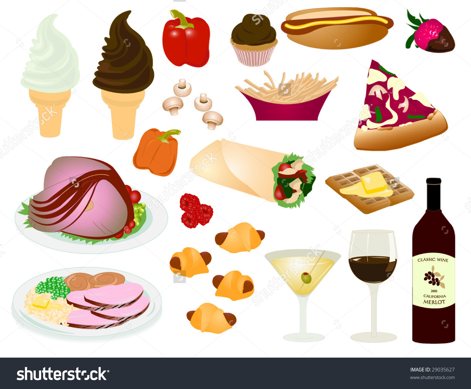 Clipart for food misc library Misc Food Items Stock Vector 29035627 - Shutterstock library