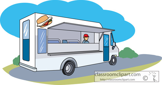 Clipart for food truck transparent library Food Truck Clipart - Clipart Kid transparent library