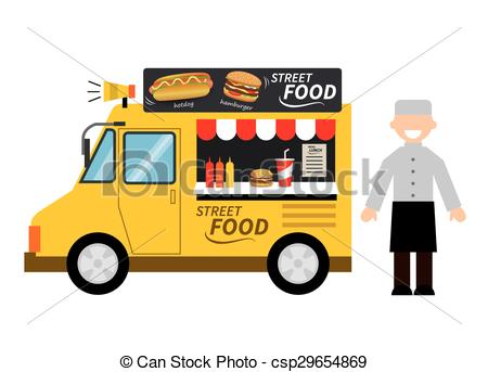 Clipart for food truck vector library stock EPS Vectors of food truck bakery csp29654891 - Search Clip Art ... vector library stock