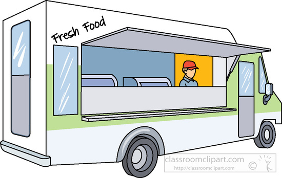 Clipart for food truck graphic free Food truck clipart transparent - ClipartFest graphic free