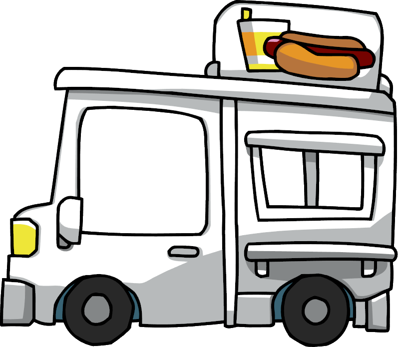 Smashed car clipart jpg black and white Food Truck Clipart - Clipart Kid jpg black and white