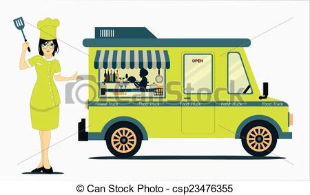 Clipart for food truck banner library library Food truck Vector Clipart Illustrations. 2,278 Food truck clip art ... banner library library