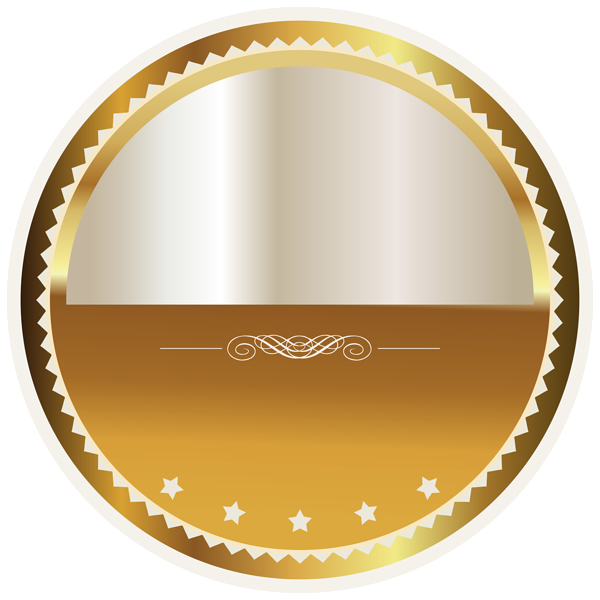 Crown with a rounded bottom clipart clip art royalty free library Gold and White Seal Badge PNG Clipart Picture | Png | Pinterest ... clip art royalty free library