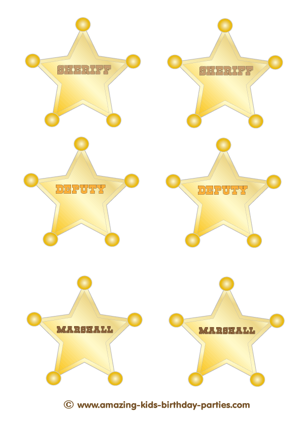 Clipart for girl being honest gold star badge clipart transparent library FREE Printable Sheriff, Deputy & Marshall Badges   Kids Party Ideas ... clipart transparent library