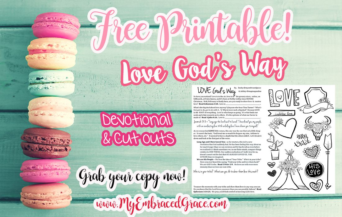 Clipart for god shows us the way clip art Free Devotional & Cut Out Printable - LOVE God\'s Way ... clip art