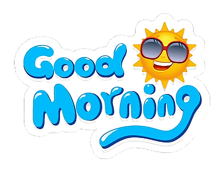 Clipart for good morning black and white stock Good Morning Goodmorning Buenosdias Stickers Clipart Png - AZPng black and white stock
