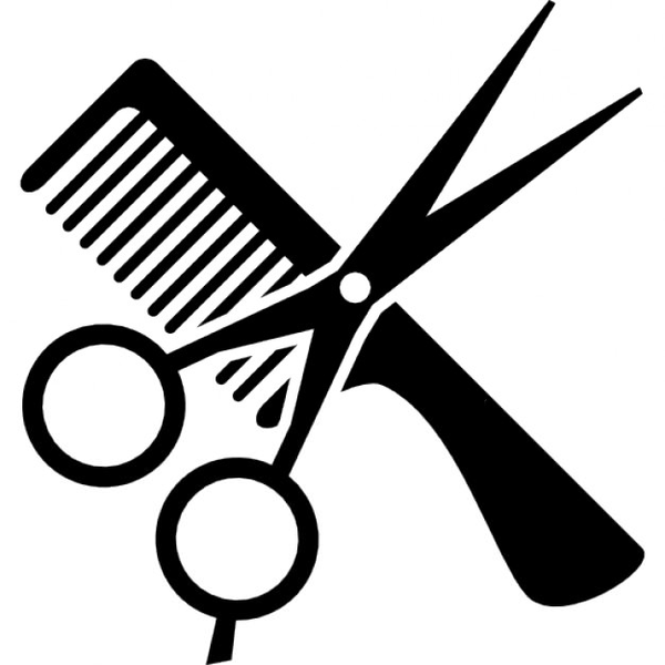 Free clipart hair stylist clip art black and white Free Clipart For Hair Salons | Free Images at Clker.com - vector ... clip art black and white