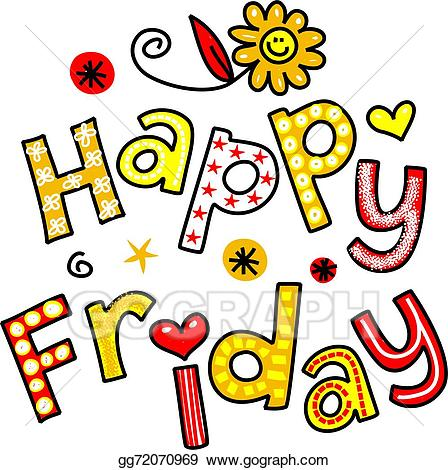 Clipart for happy friday picture library Stock Illustrations - Happy friday cartoon text clipart. Stock ... picture library