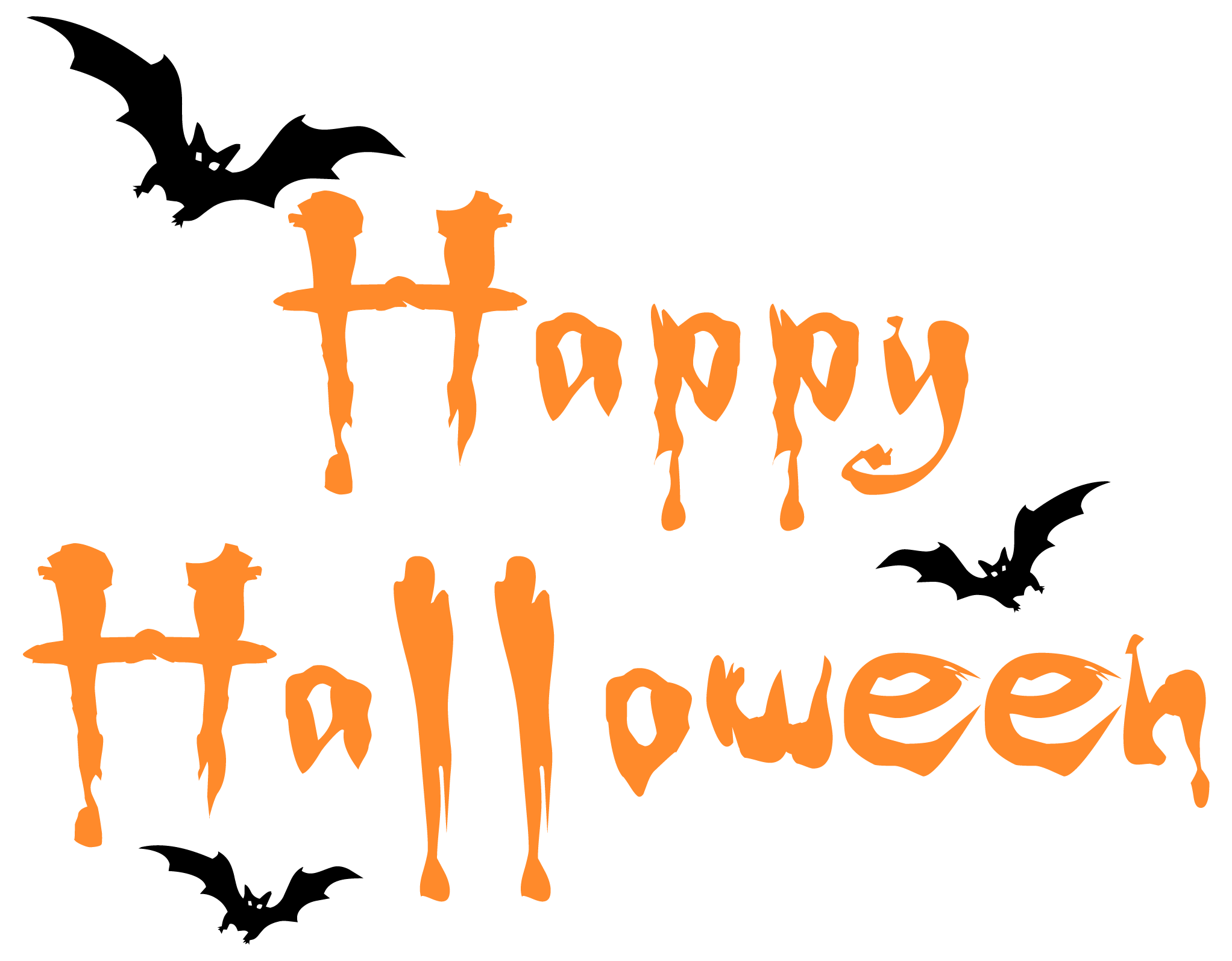 Happy halloween clipart font vector black and white stock Happy Halloween PNG Clipar Image | Gallery Yopriceville - High ... vector black and white stock