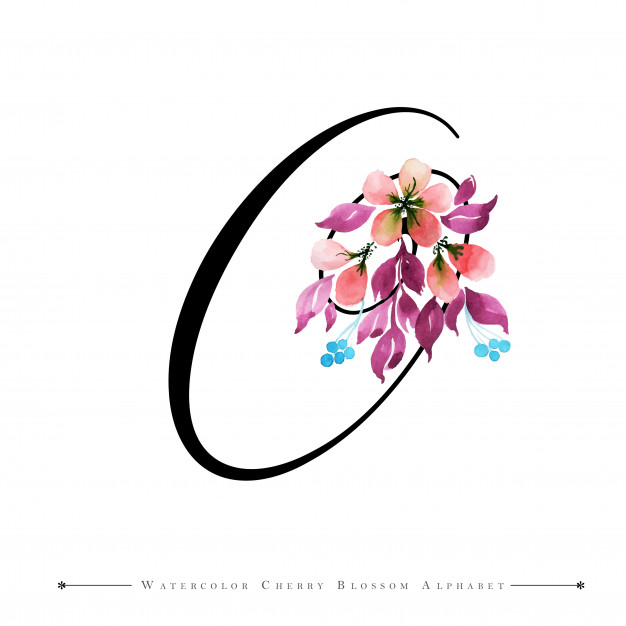 Clipart for images with letter o in flowers banner download Letter o watercolor floral background Vector | Premium Download banner download