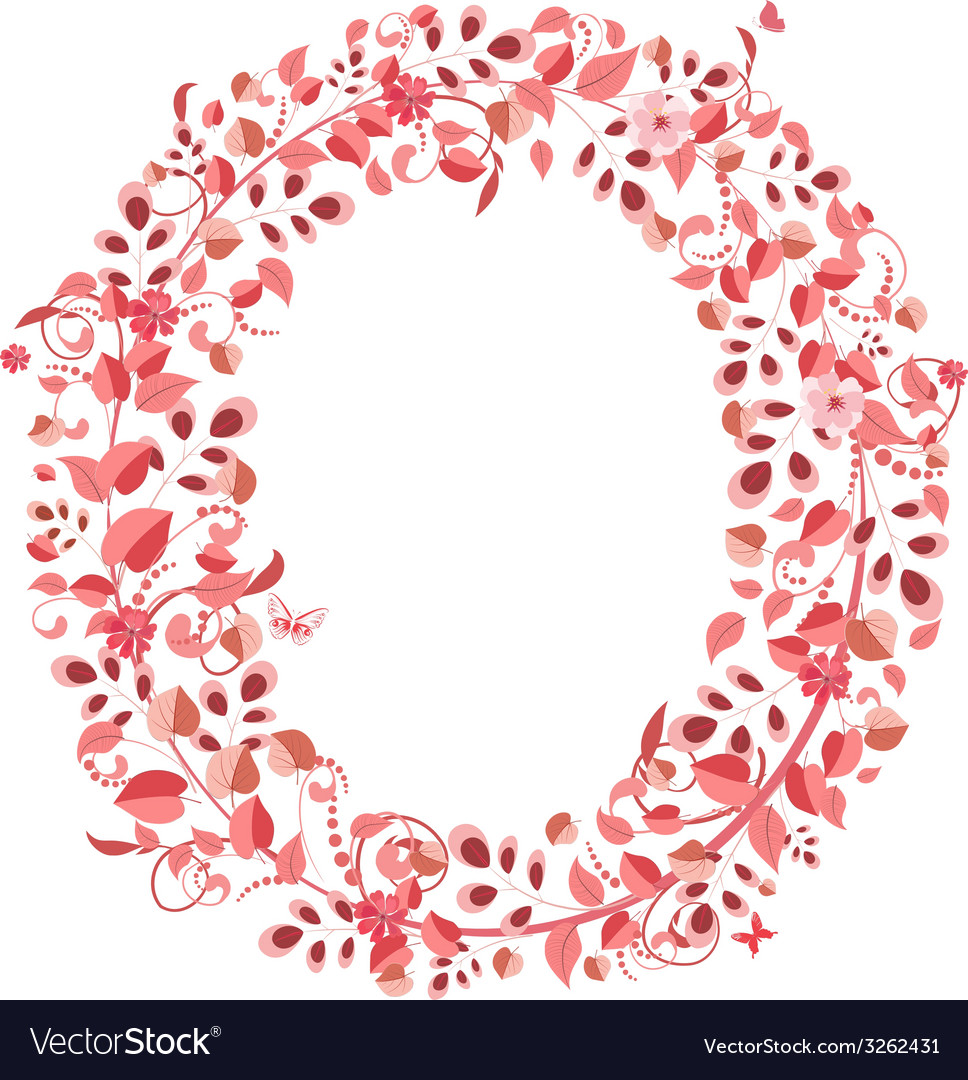 Clipart for images with letter o in flowers image transparent download Romantic floral letter O image transparent download