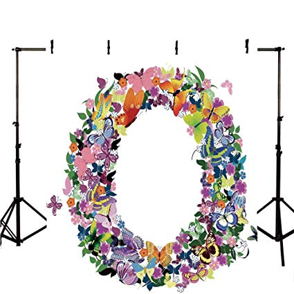 Clipart for images with letter o in flowers freeuse library Amazon.com : Letter O Stylish Backdrop, Uppercase Initial with ... freeuse library