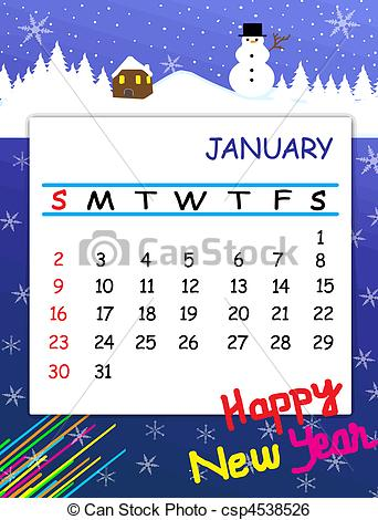 Clipart for january 2016 calendar svg freeuse download Calendar clipart january - ClipartFox svg freeuse download