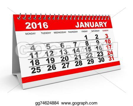 Clipart for january 2016 calendar banner freeuse download Stock Illustration - Calendar january 2016. Clipart Illustrations ... banner freeuse download