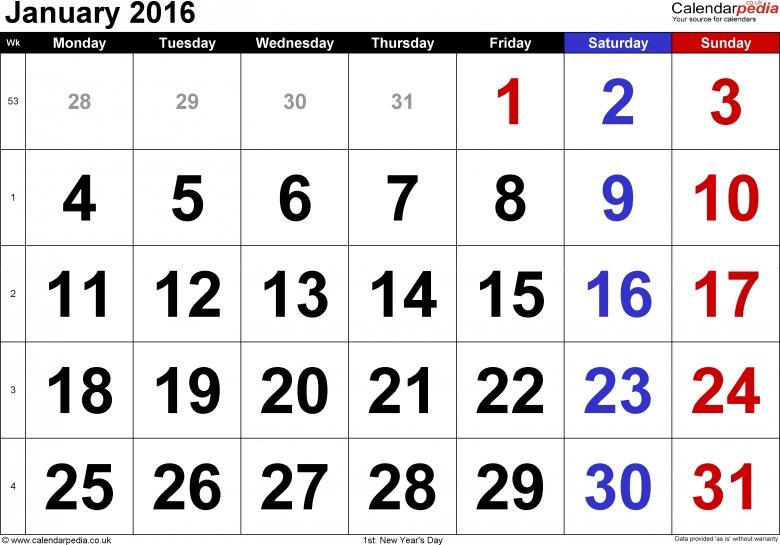 Clipart for january 2016 calendar jpg transparent stock january 2016 calendar clip art | New Calendar 2017 jpg transparent stock