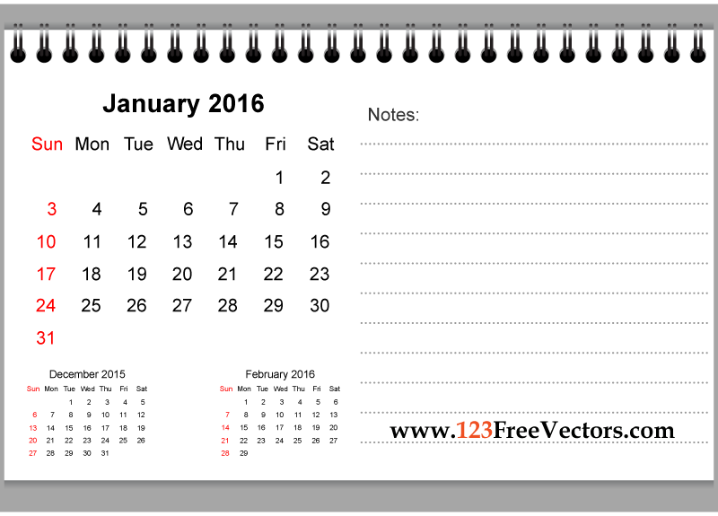 Clipart for january 2016 calendar svg royalty free January 2016 calendar clipart - ClipartFest svg royalty free