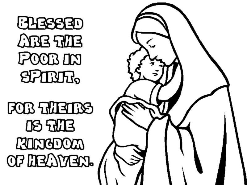 Clipart for jesus says blessed are you who are hungry graphic free stock Overview of the Beatitudes with Graphics and Clip Art for Children ... graphic free stock