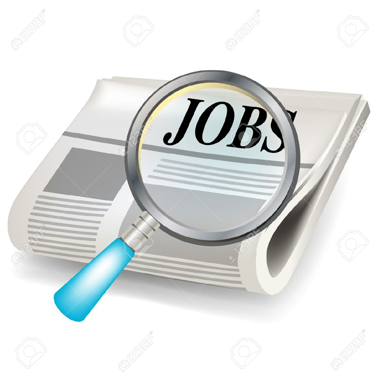 Clipart for job search. Searching clipartfest and magnifier