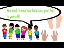 Clipart for keeping hands and feet to self