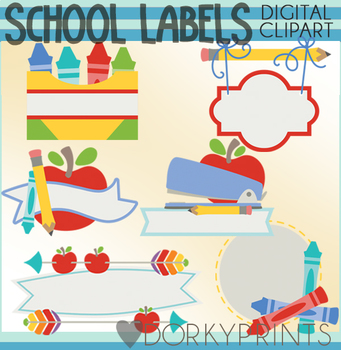 Clipart for labels vector freeuse library School Labels Clipart vector freeuse library
