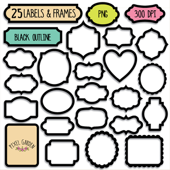 Clipart for labels jpg library download Black Blank Digital Frames, Labels Clipart - 40 PNG jpg library download