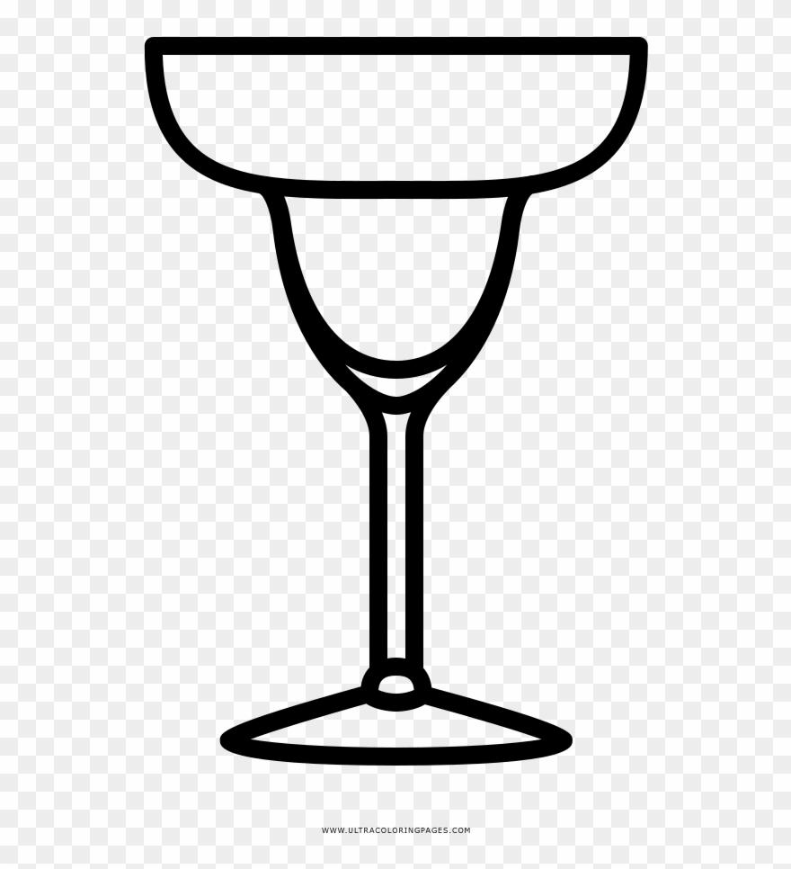 Clipart for margarita glasses clipart free download Margarita Glass Coloring Page - Margarita Glass Icon Clipart ... clipart free download