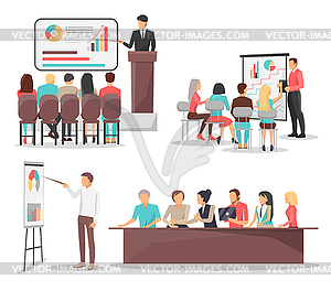 Clipart for merchants meetings banner free library Set of Business Meeting Icons - vector clipart / vector image banner free library