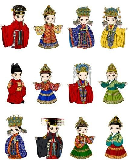 Clipart for ming dynasty china image download officials and their wifes\' clothings in Ming Dynasty of China .the ... image download