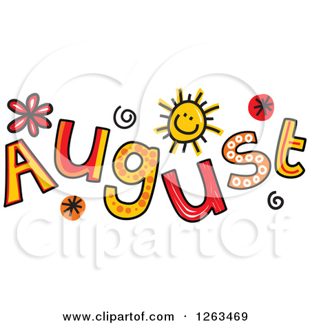 Clipart for month of august freeuse stock Royalty-Free (RF) Clipart Illustration of a Month Of August Hot ... freeuse stock