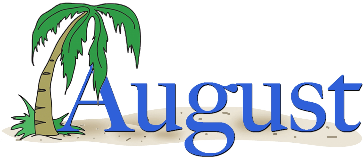 Clipart for month of august svg stock The word august clip art - ClipartFest svg stock