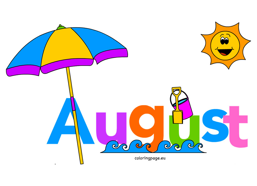 Clipart for month of august clip art royalty free stock Month august clipart - ClipartFest clip art royalty free stock