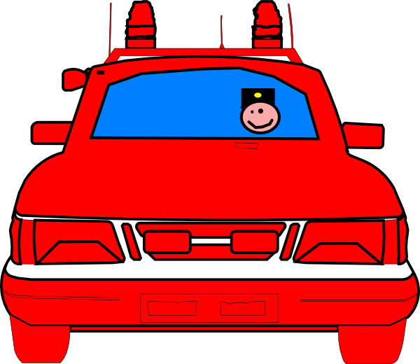 Red police car clipart clip art royalty free stock Police Car Clip Art at Clker.com - vector clip art online, royalty ... clip art royalty free stock