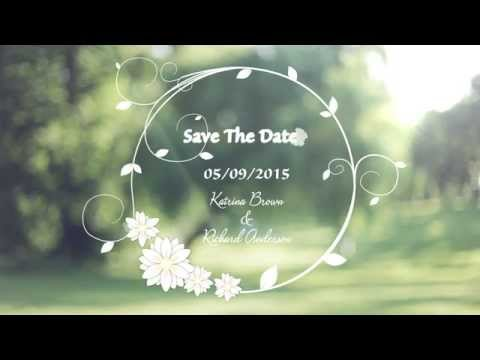 Clipart for powerpoint for save the date template black and white stock Custom Wedding Invitation Video - Save The Date black and white stock