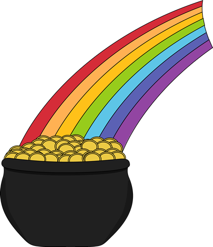 Free Rainbow And Pot Of Gold Clipart, Download Free Clip Art, Free ... vector library download