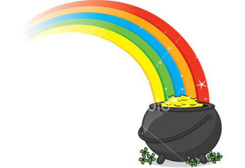 Pot of gold with rainbow clipart clipart freeuse Free Rainbow And Pot Of Gold Clipart, Download Free Clip Art, Free ... clipart freeuse