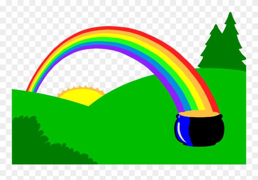 Free Stock Photos - End Of A Rainbow Pot Of Gold Clipart (#13812 ... clip art black and white library