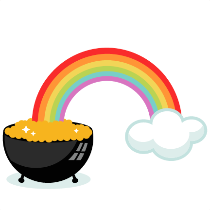 Pot of Gold With Rainbow SVG cutting files for scrapbooking cute ... svg royalty free library