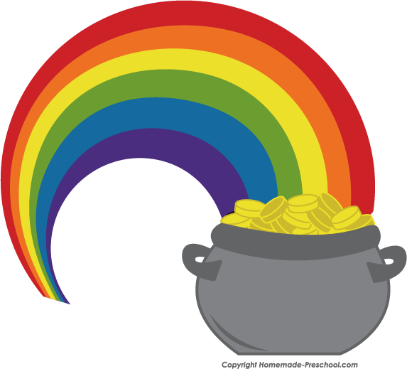 Rainbow And Pot Of Gold Clipart | Free download best Rainbow And Pot ... banner free