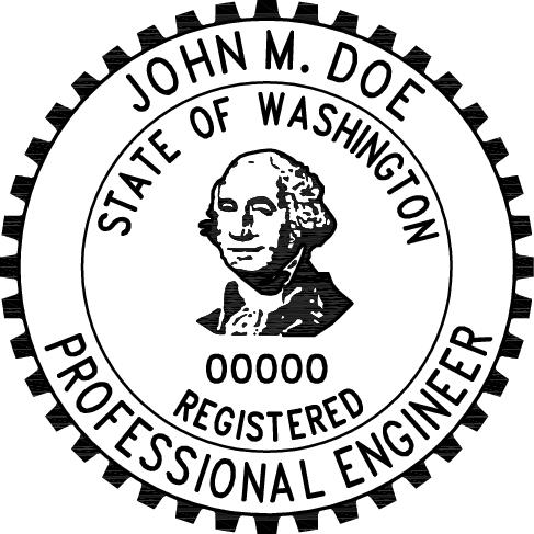 Clipart for registered engineer seal state of florida clip art black and white stock Washington Professional Engineer Stamp | PE Stamps clip art black and white stock