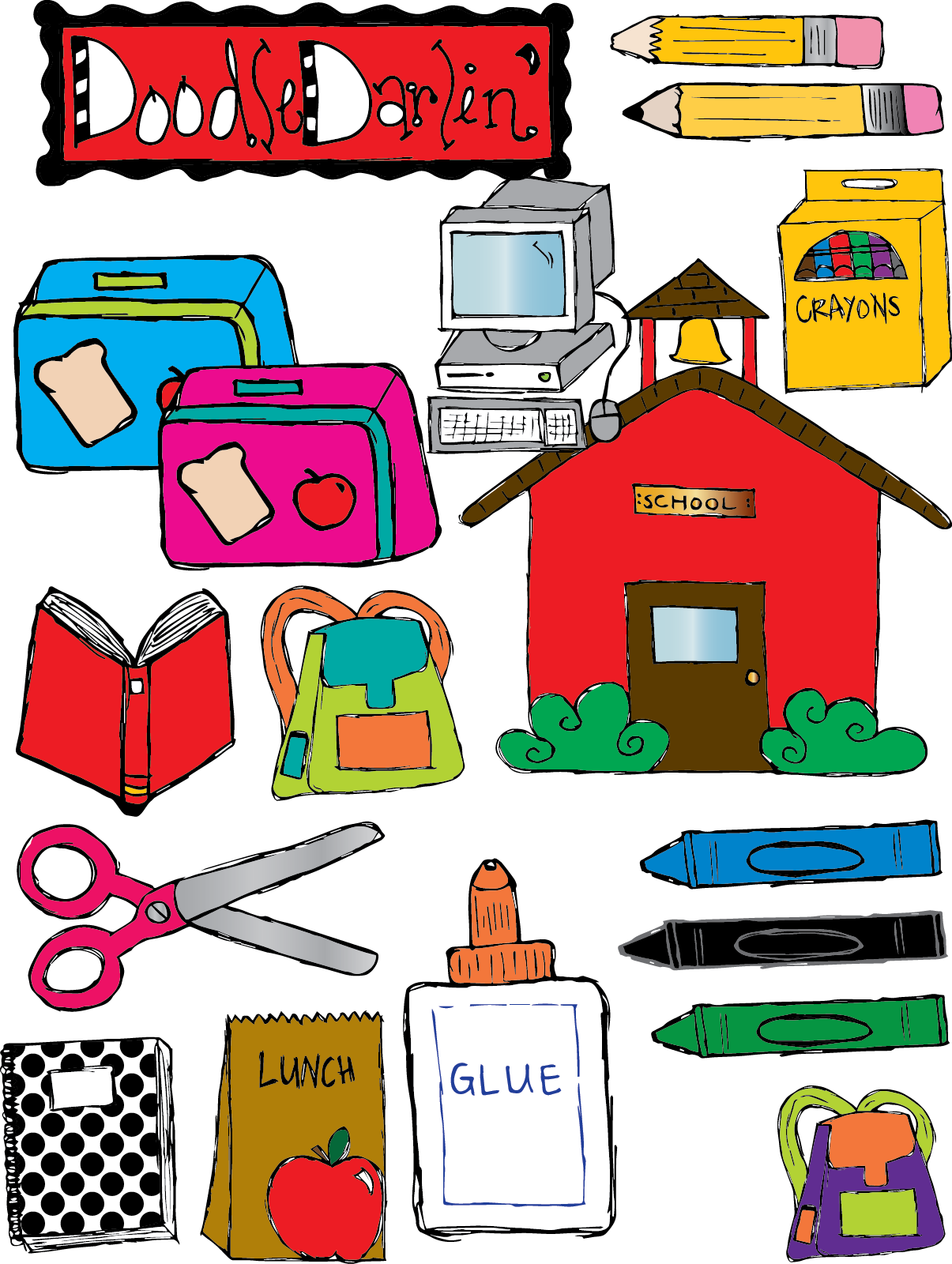Clipart for school use graphic library stock Materials Clipart - Clipart Kid graphic library stock