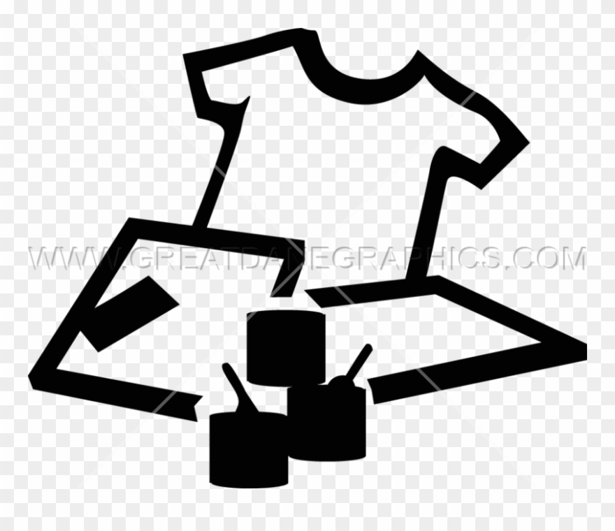 Clipart for screen printing graphic black and white stock Screen Print Cliparts - Screen Printing Clipart Black - Png Download ... graphic black and white stock