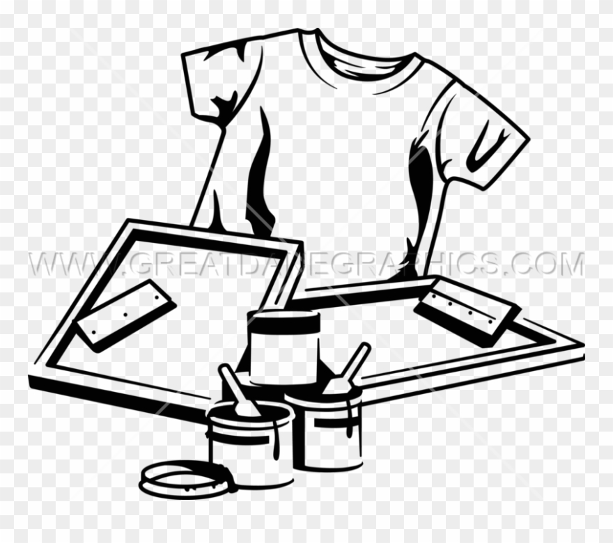 Printer Clipart Clip Art - Screen Printing Equipment Clipart - Png ... picture freeuse download